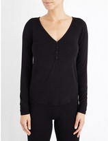 Wildfox Couture Dreaming of You stretch-jersey henley top