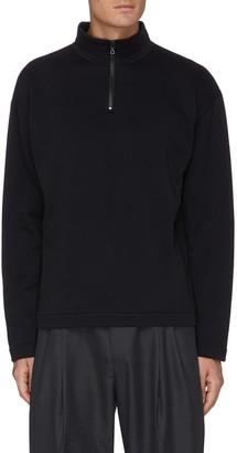 AURALEE High gauge elastic half zip sweater