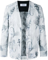 Chalayan collarless open blazer - women - Cotton/Polyester/Acetate/Viscose - 48