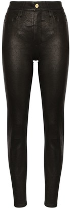 Frame Le Sylvie skinny leather trousers