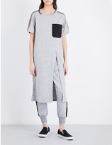 Izzue Longline jersey T-shirt dress