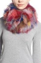 Jocelyn Women's Dyed Genuine Fox Fur Infinity Scarf