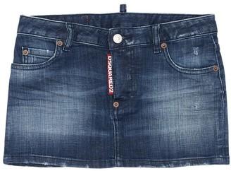 DSQUARED2 Stretch Cotton Blend Denim Mini Skirt