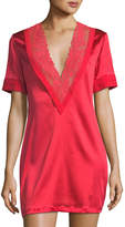 La Perla Azalea Lace-Trim Lounge Shirt