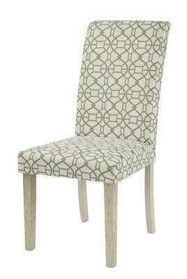 Bungalow Rose Kaison Upholstered Dining Chair Upholstery Color: Green