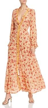 Poupette St Barth Floral Print Tiered Dress