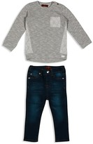 7 For All Mankind Infant Girls' French Terry Sweatshirt & Skinny Jeans Set - Sizes 12-24 Months