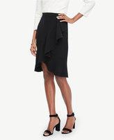 Ann Taylor Petite Ruffled Pencil Skirt