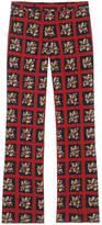 Gucci Floral check print bootcut pant