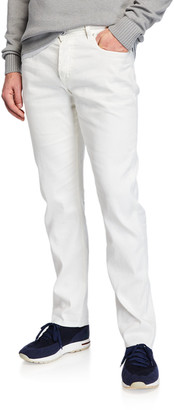 Loro Piana 5-Pocket Linen-Blend Pants