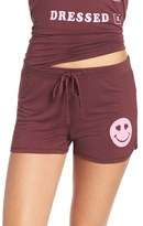Junk Food Clothing Women's Smiley Face Jersey Lounge Shorts