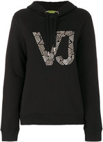 Versace studded logo hoodie