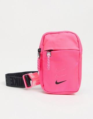 Nike Advance crossbody bag in neon pink