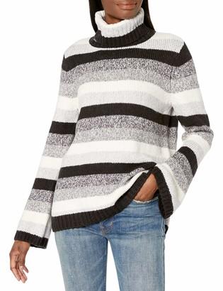 Kensie Women's Punk Yarn Stripe Sweater
