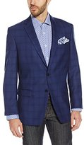 Calvin Klein Men's Malik Regular=Fit Two-Button Notch Lapel Jacket in Plaid
