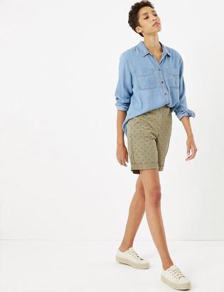 Marks and Spencer Pure Cotton Polka Dot Chino Shorts