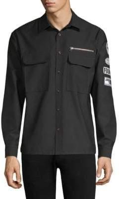 Dim Mak Patch Long-Sleeve Workshirt