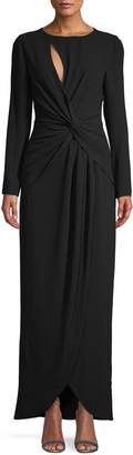 Dress the Population Naomi Long-Sleeve Twist Gown