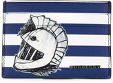 Burberry 'Pallas Heads 1954' striped card holder - men - Cotton/Leather - One Size