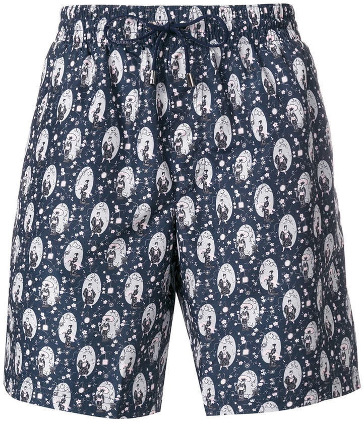 Dolce & Gabbana geisha print swimming trunks
