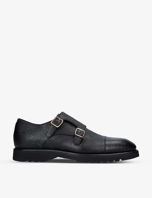 Tom Ford Kensington pebbled-leather monk strap shoes