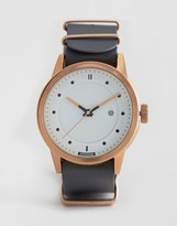 Hypergrand Classic Grey Leather Watch