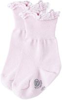 Petit Bateau Girls socks in eyelet knit
