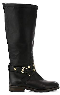 See by Chloe Women's Janis Studded Tall Leather Boots