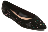 George Embroidered Pointed Toe Ballet Shoes