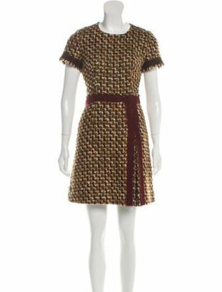 Prada Boucle Virgin Wool Dress Beige