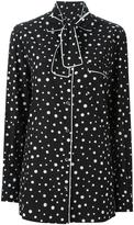 Dolce & Gabbana polka dot print pyjama shirt - women - Silk/Spandex/Elastane - 50