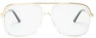 Gucci Aviator Square Acetate Sunglasses - Mens - Yellow