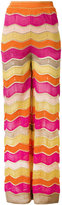 M Missoni zig zag flared trousers - women - Cotton/Polyester/Viscose/Metallic Fibre - 40
