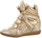 Isabel Marant Metallic Beckett Wedge Sneakers