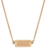 ginette_ny Tiny Lingot Necklace - Rose Gold