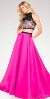 Jovani Two Piece Floral Embroidered Rhinestone Prom Dress