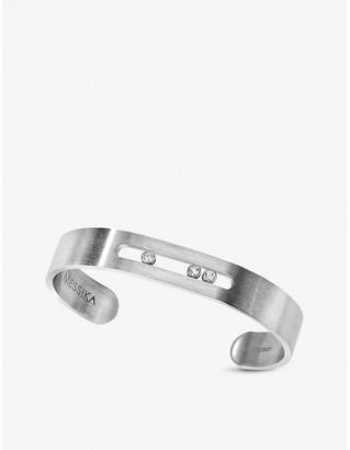 Messika Move titanium and diamond-embellished cuff bracelet