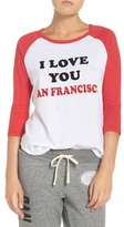 Junk Food Clothing San Fran 49ers Baseball Tee