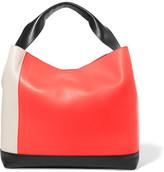 Marni Pod Color-block Leather Tote - Bright orange