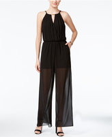 Amy Byer Juniors' Keyhole Illusion Jumpsuit