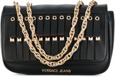 Versace fringe studded shoulder bag