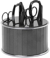 Bamford Grooming Department Stainless Steel and Carbon Fibre Manicure Set