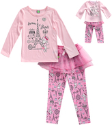 Dollie & Me Pink 'Dream of Paris' Pajama Set & Doll Outfit - Toddler & Girls