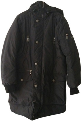 Gas Jeans Black Polyester Coats