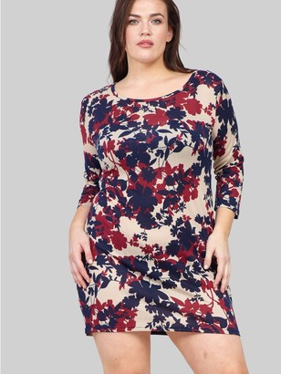 M&Co Izabel Curve floral knitted bodycon dress