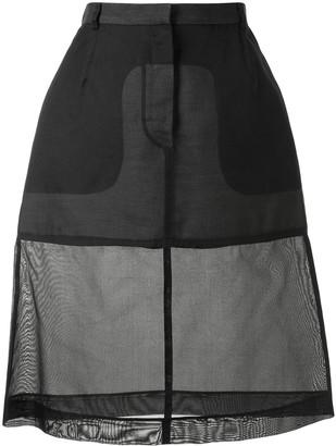 Louis Vuitton pre-owned semi-sheer A-line skirt