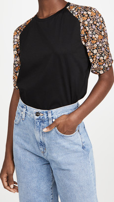 Scotch & Soda Printed Sleeves Relaxed Tee