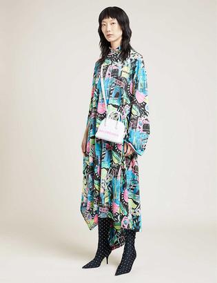 Balenciaga Printed high-neck cotton-jersey midi dress