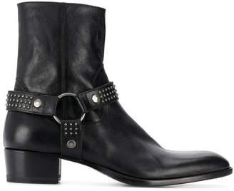 Saint Laurent Wyatt leather 40mm ankle boots