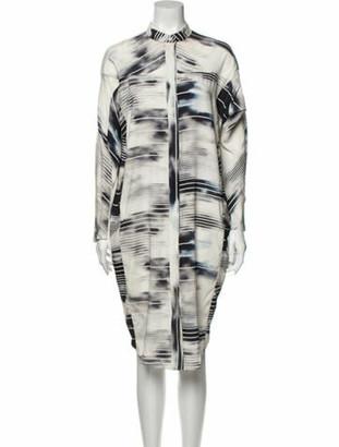 Zero Maria Cornejo Silk Midi Length Dress